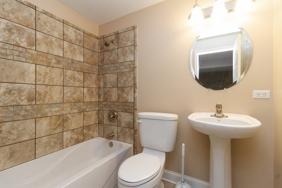 Real Estate Photography - 25734 South Truman St, Monee, IL, 60449 - 3rd Bathroom