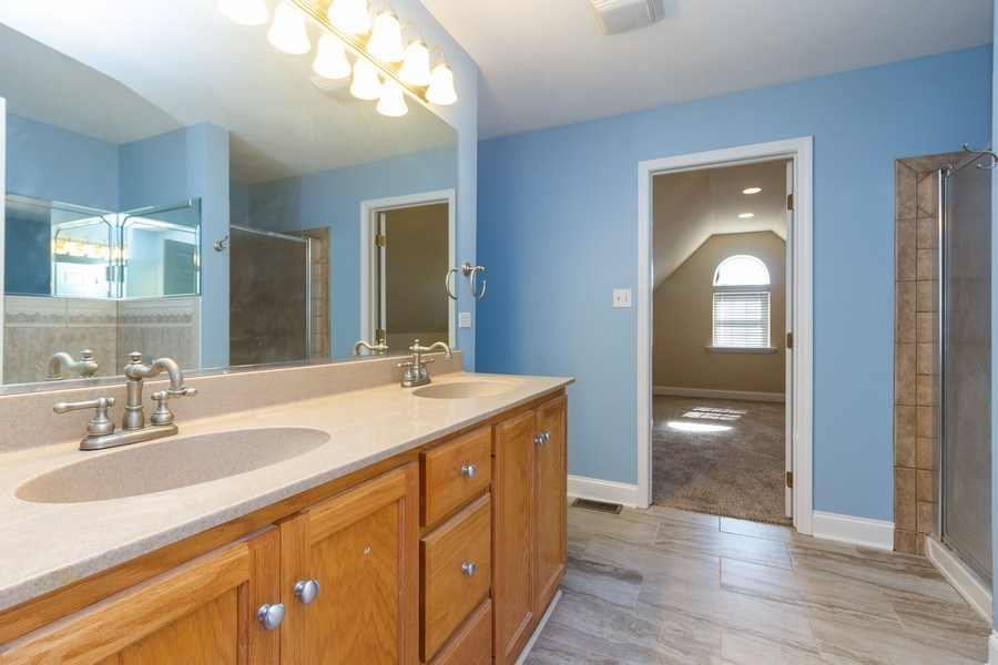 Real Estate Photography - 25734 South Truman St, Monee, IL, 60449 - Master Bathroom