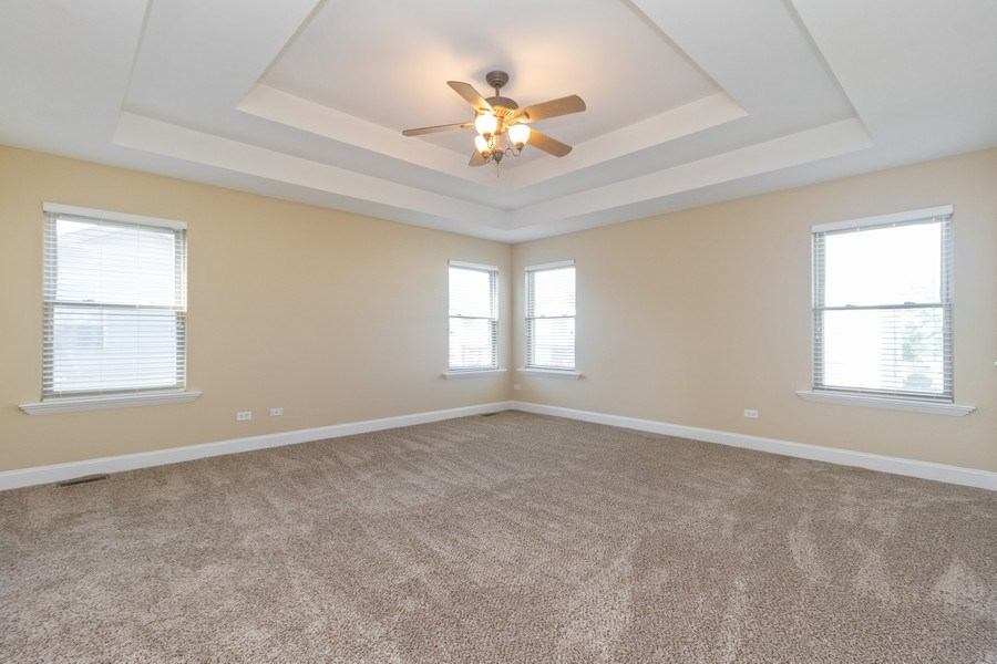 Real Estate Photography - 25734 South Truman St, Monee, IL, 60449 - Master Bedroom