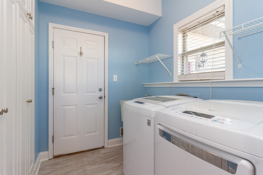 Real Estate Photography - 25734 South Truman St, Monee, IL, 60449 - Laundry Room
