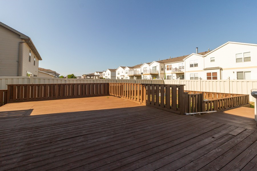 Real Estate Photography - 25734 South Truman St, Monee, IL, 60449 - Deck
