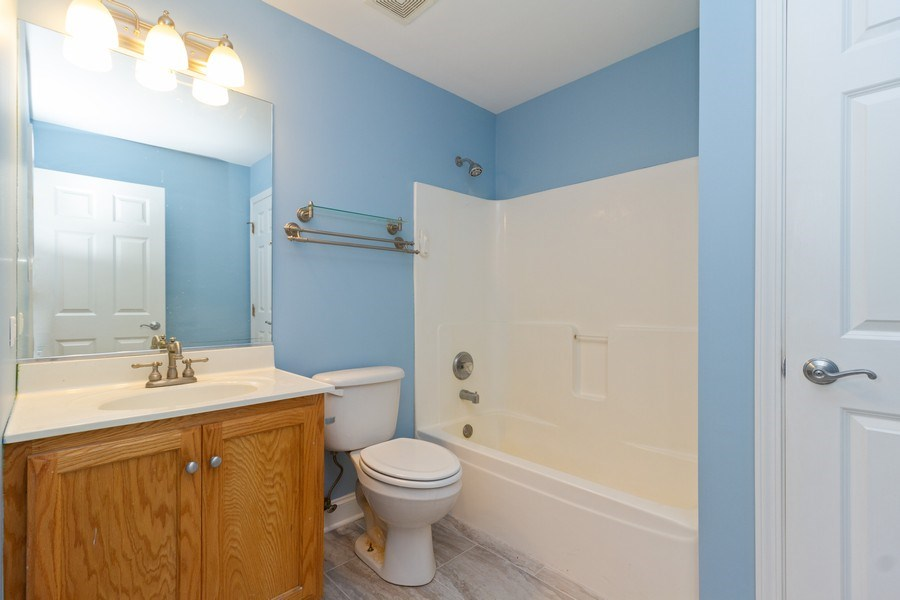 Real Estate Photography - 25734 South Truman St, Monee, IL, 60449 - 2nd Bathroom
