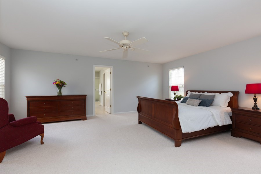 Real Estate Photography - 2689 Spruce Drive, West Dundee, IL, 60118 - Master Bedroom