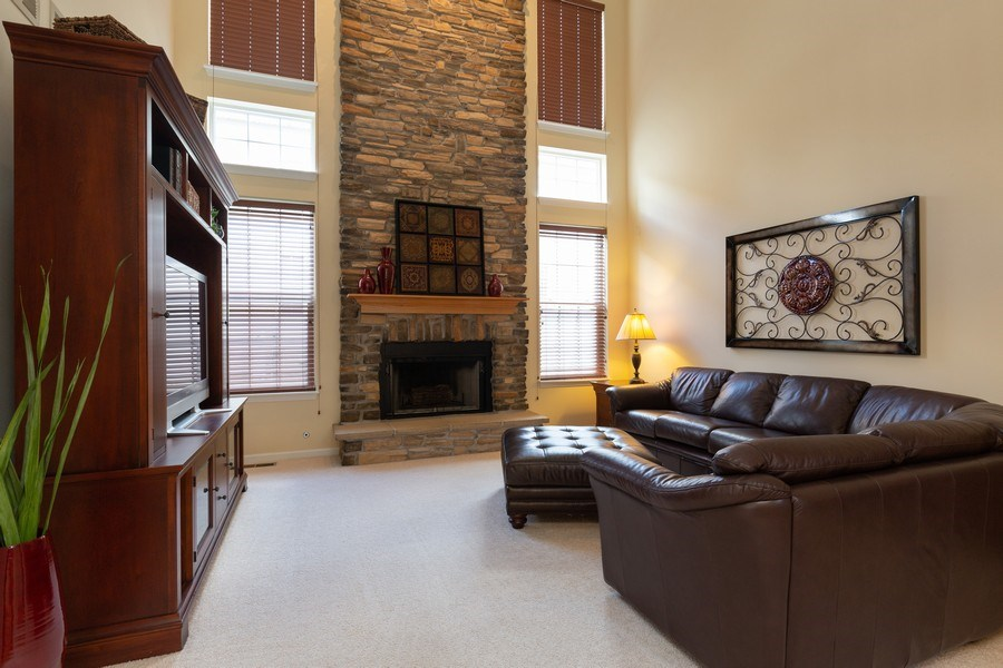 Real Estate Photography - 2689 Spruce Drive, West Dundee, IL, 60118 - Family Room