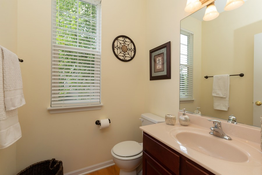 Real Estate Photography - 2689 Spruce Drive, West Dundee, IL, 60118 - Half Bath