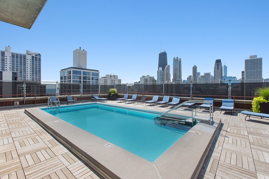 Real Estate Photography - 1325 North State Pkwy, 12E, Chicago, IL, 60610 - Pool