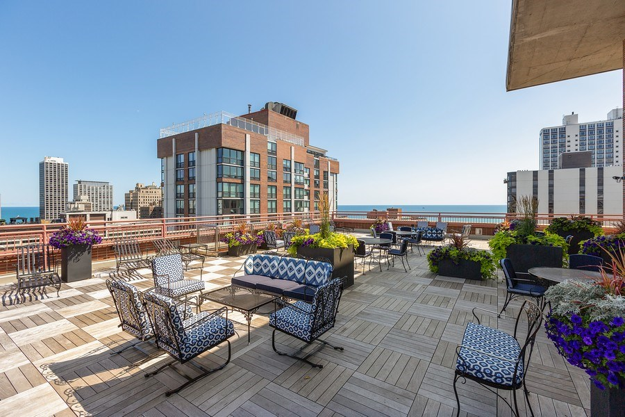 Real Estate Photography - 1325 North State Pkwy, 12E, Chicago, IL, 60610 - Deck