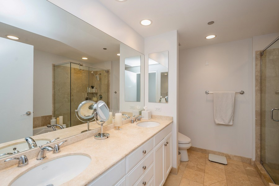 Real Estate Photography - 600 North Lake Shore Dr, 1605, Chicago, IL, 60611 - Master Bathroom