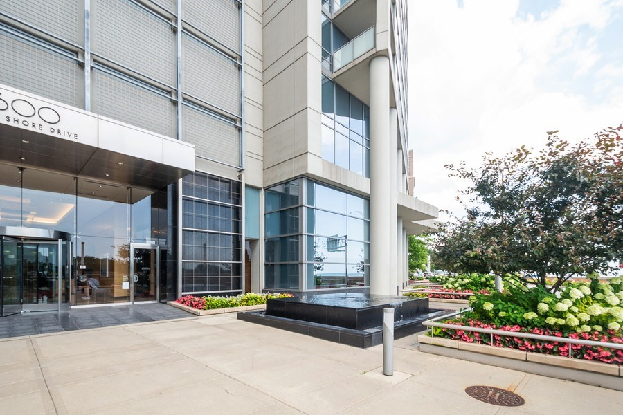 Real Estate Photography - 600 North Lake Shore Dr, 1605, Chicago, IL, 60611 - Building Entrance