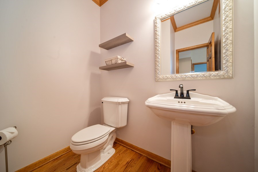 Real Estate Photography - 1640 Quail Way, Crystal Lake, IL, 60014 - Powder Room