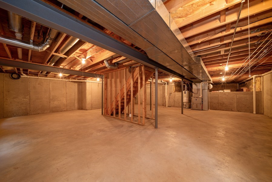 Real Estate Photography - 1640 Quail Way, Crystal Lake, IL, 60014 - Basement