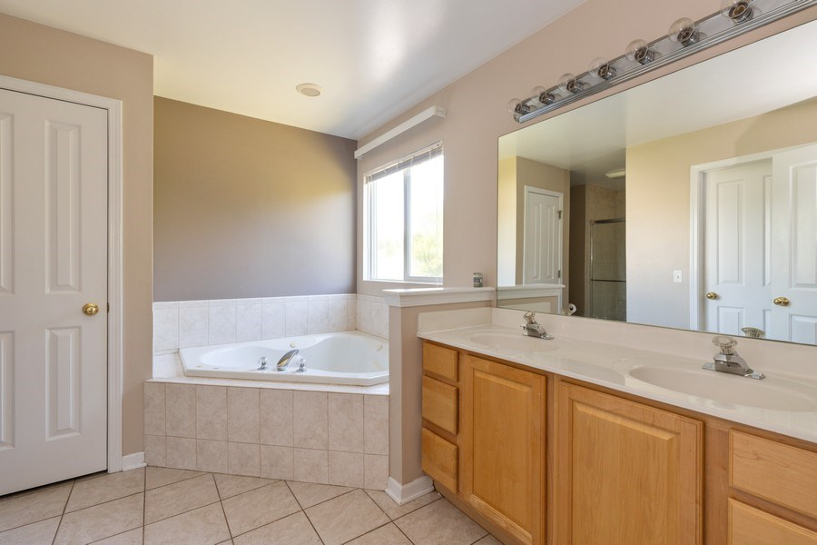 Real Estate Photography - 37517 Lyons Woods Court, Beach Park, IL, 60087 - Master Bathroom