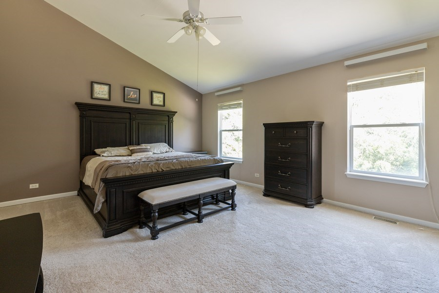 Real Estate Photography - 37517 Lyons Woods Court, Beach Park, IL, 60087 - Master Bedroom