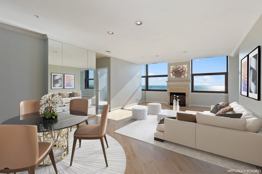 Real Estate Photography - 330 South Michigan Ave, 1508, Chicago, IL, 60604 - Living Room