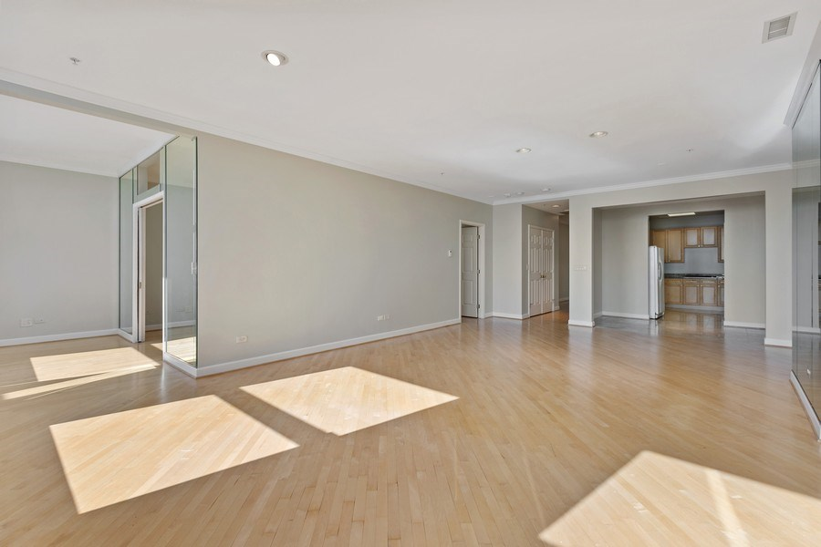 Real Estate Photography - 330 South Michigan Ave, 1508, Chicago, IL, 60604 - Kitchen / Living Room