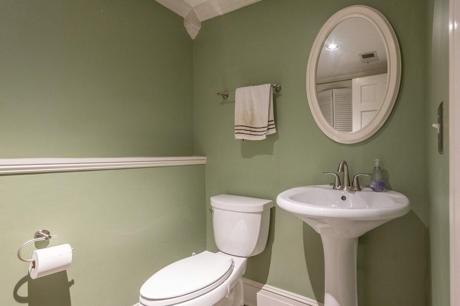 Real Estate Photography - 6 Westmoreland Ct, Woodridge, IL, 60517 - Powder Room