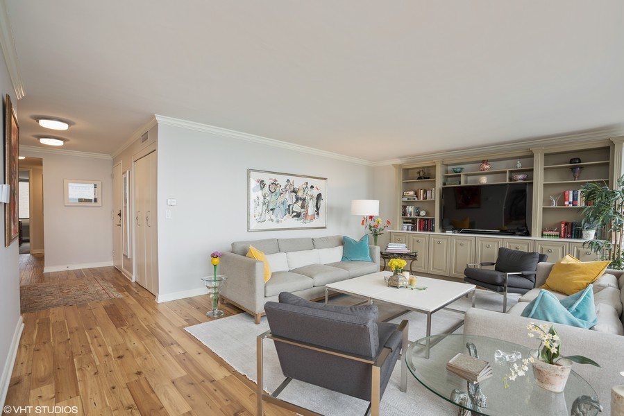 Real Estate Photography - 1240 N. LAKE SHORE Drive, Unit 8A, Chicago, IL, 60610 - Living Room