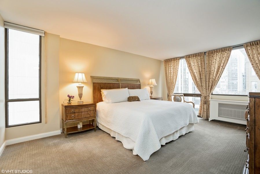 Real Estate Photography - 1240 N. LAKE SHORE Drive, Unit 8A, Chicago, IL, 60610 - Master Bedroom