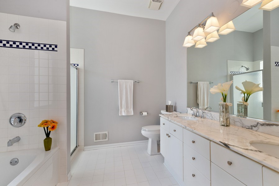Real Estate Photography - 2814 North Sheffield Ave, 2S, Chicago, IL, 60657 - Master Bathroom