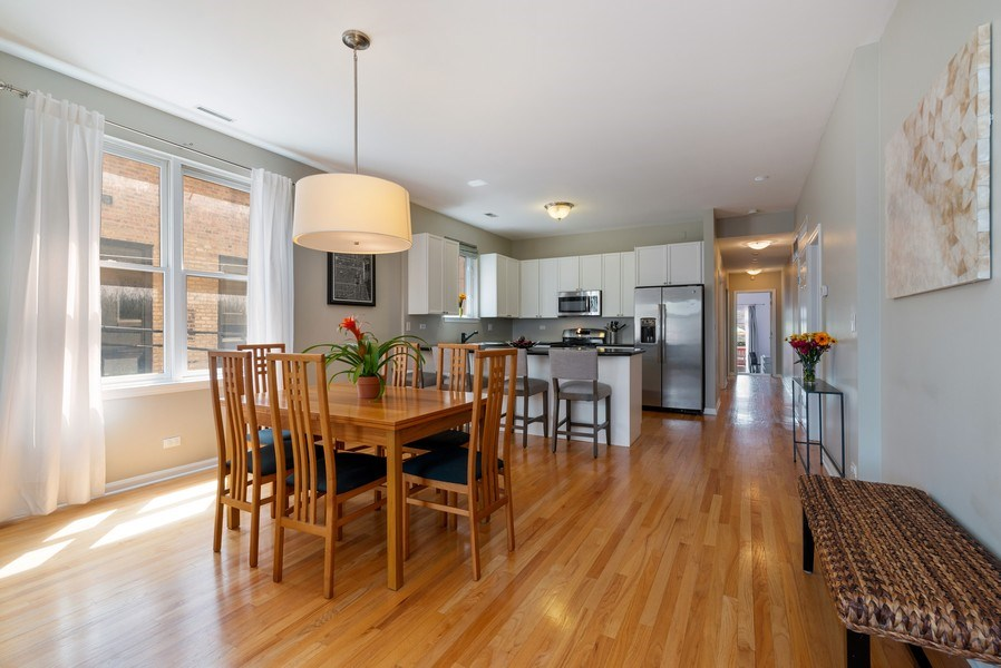 Real Estate Photography - 2814 North Sheffield Ave, 2S, Chicago, IL, 60657 - Kitchen / Dining Room