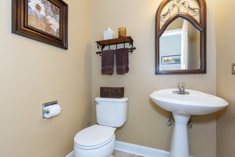 Real Estate Photography - 2135 Periwinkle Ln, Naperville, IL, 60540 - POWDER ROOM