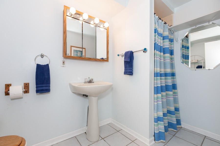 Real Estate Photography - 2135 Periwinkle Ln, Naperville, IL, 60540 - FULL BASEMENT BATHROOM
