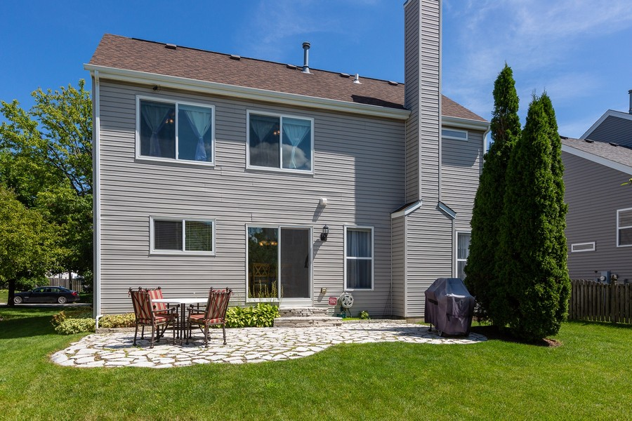 Real Estate Photography - 2135 Periwinkle Ln, Naperville, IL, 60540 - EXTERIOR REAR VIEW/PATIO