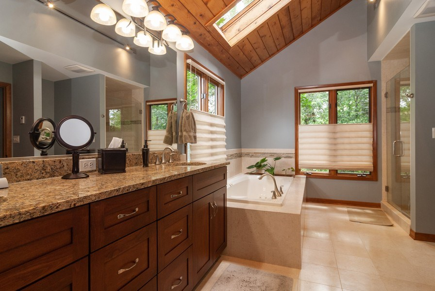 Real Estate Photography - 2S370 Madison St, Wheaton, IL, 60189 - Master Bathroom