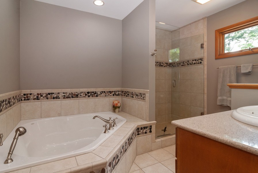 Real Estate Photography - 2S370 Madison St, Wheaton, IL, 60189 - 2nd Bathroom