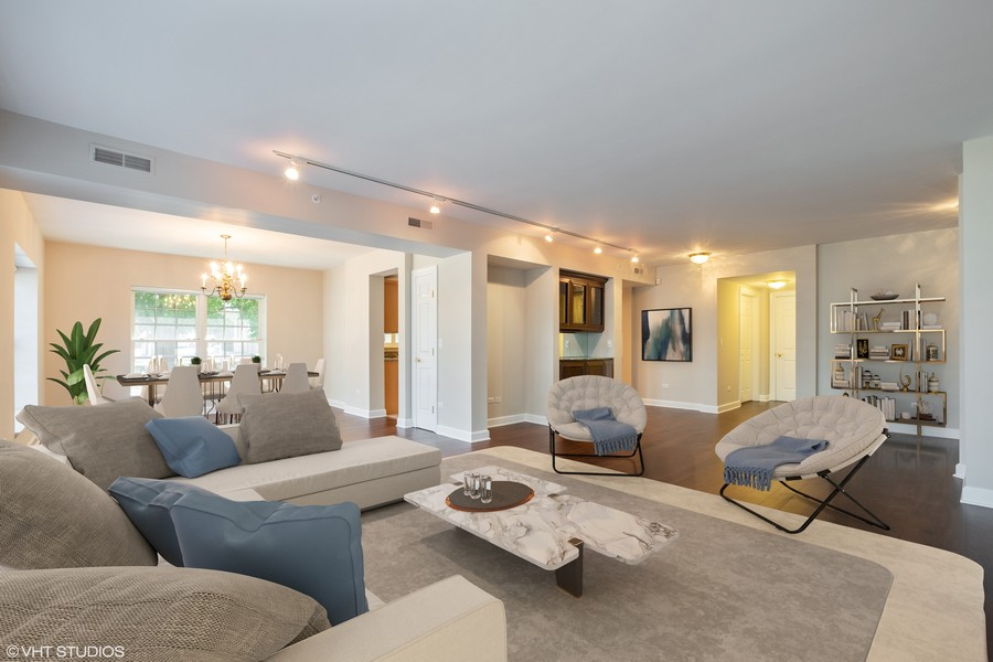 Real Estate Photography - 2021 St Johns Ave, Highland Park, IL, 60035 - Family Room/Dining Room