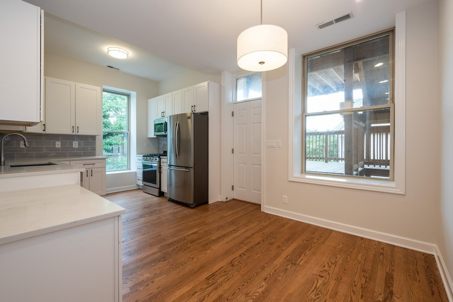Real Estate Photography - 4655 North Hermitage Ave, 3, Chicago, IL, 60640 - Kitchen