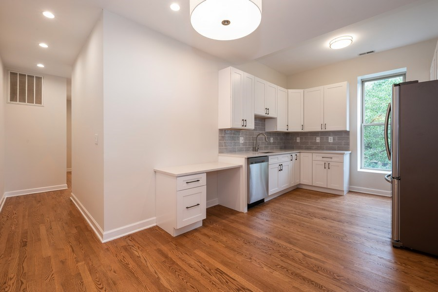Real Estate Photography - 4655 North Hermitage Ave, 3, Chicago, IL, 60640 - Kitchen / Dining Room