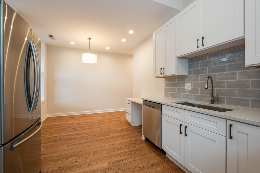 Real Estate Photography - 4655 North Hermitage Ave, 3, Chicago, IL, 60640 - Kitchen/Dining