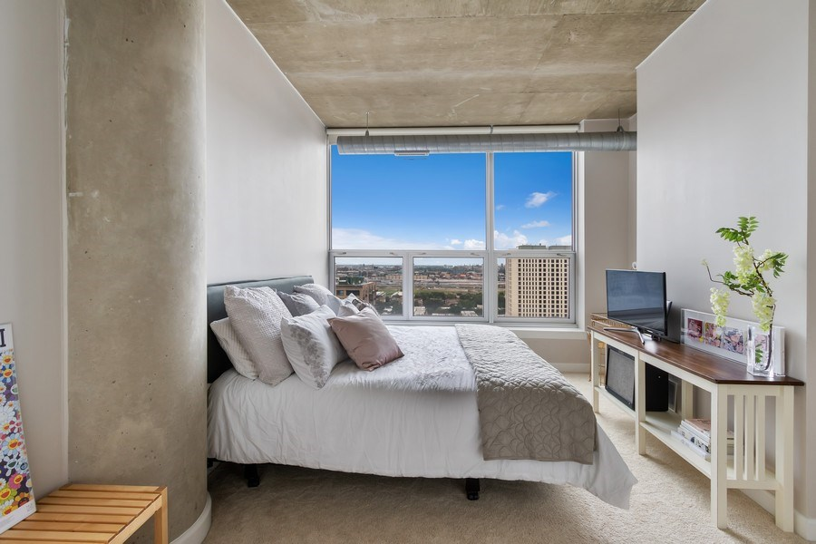 Real Estate Photography - 1305 S Michigan Avenue, Unit 1604, Chicago, IL, 60605 - Master Bedroom