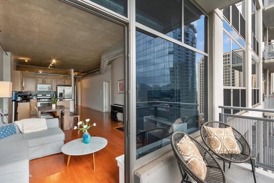 Real Estate Photography - 1305 S Michigan Avenue, Unit 1604, Chicago, IL, 60605 - Balcony