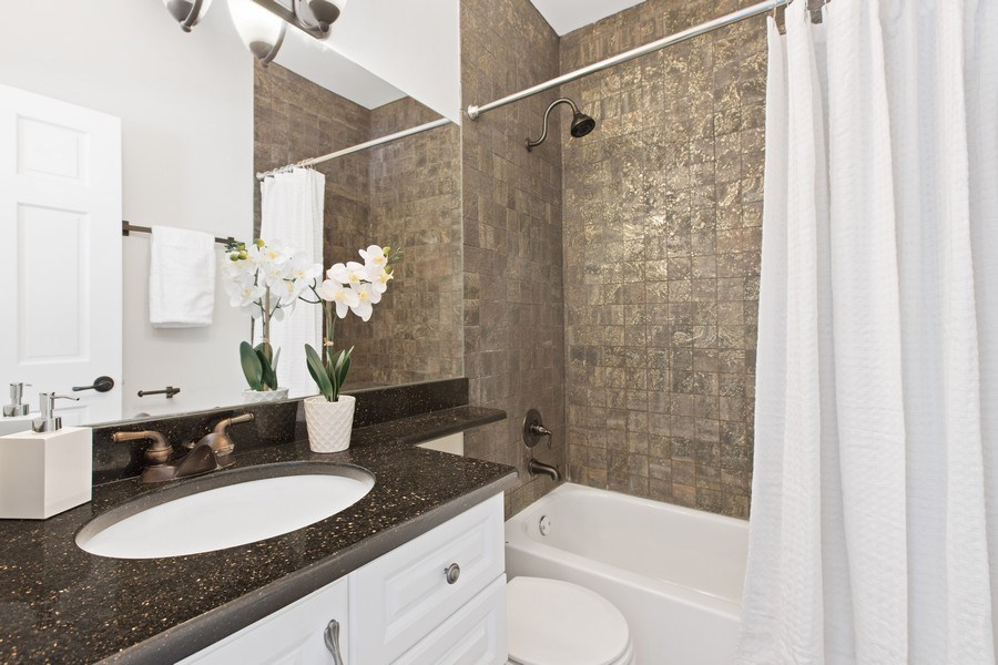 Real Estate Photography - 1618 North Burling St, A, Chicago, IL, 60614 - Master Bathroom