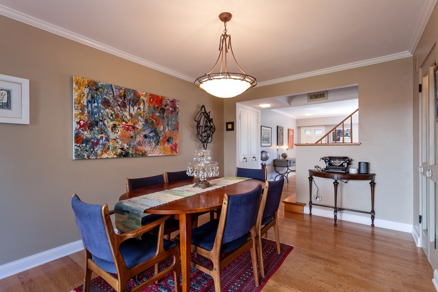 Real Estate Photography - 202 Chanticleer Ln, Hinsdale, IL, 60521 - Dining Area