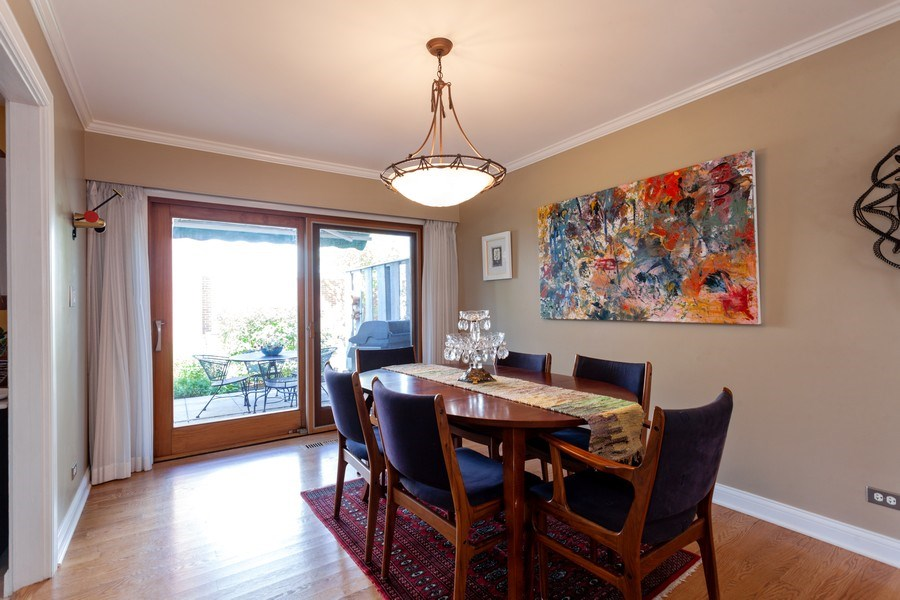 Real Estate Photography - 202 Chanticleer Ln, Hinsdale, IL, 60521 - Dining Room