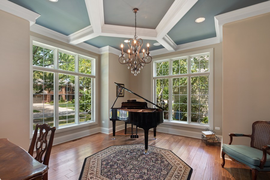 Real Estate Photography - 1108 Heatherton Dr, Naperville, IL, 60563 - Study/Music Room