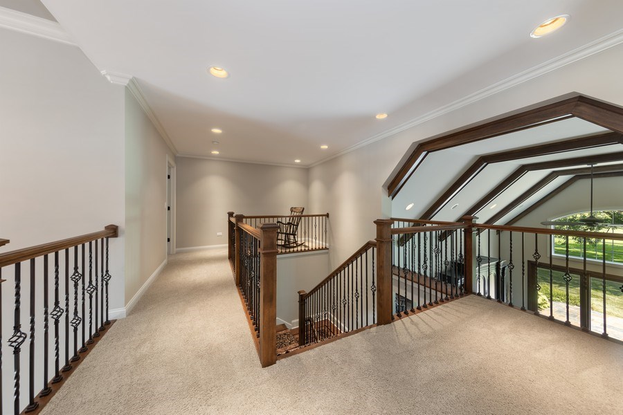 Real Estate Photography - 1108 Heatherton Dr, Naperville, IL, 60563 - 2nd floor corridor- will accommodate a future elev