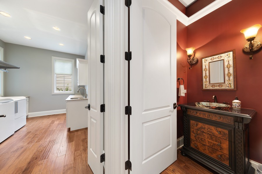 Real Estate Photography - 1108 Heatherton Dr, Naperville, IL, 60563 - Powder Room