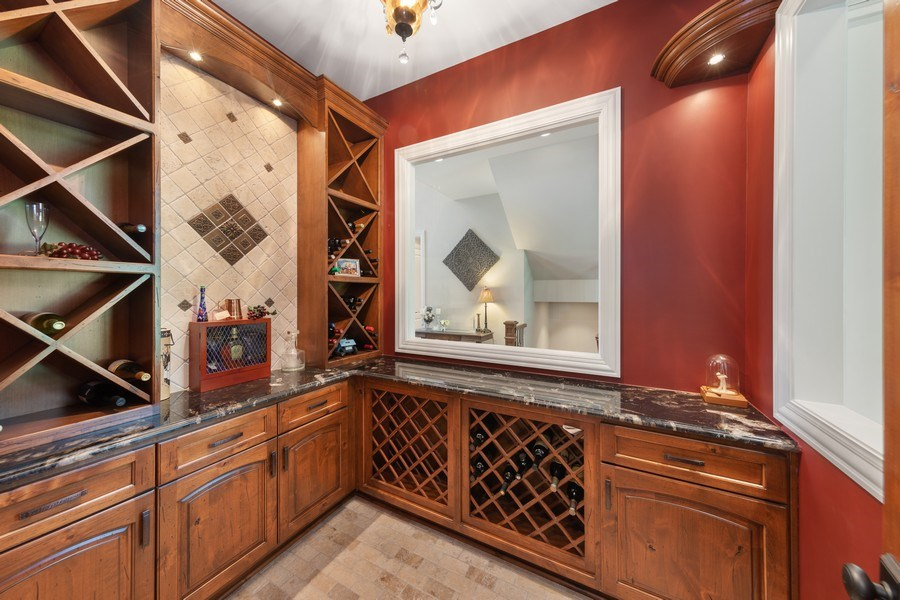 Real Estate Photography - 1108 Heatherton Dr, Naperville, IL, 60563 - Wine Room