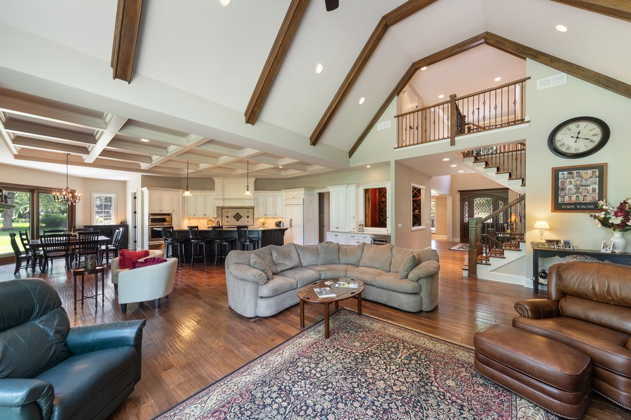 Real Estate Photography - 1108 Heatherton Dr, Naperville, IL, 60563 - Family Room