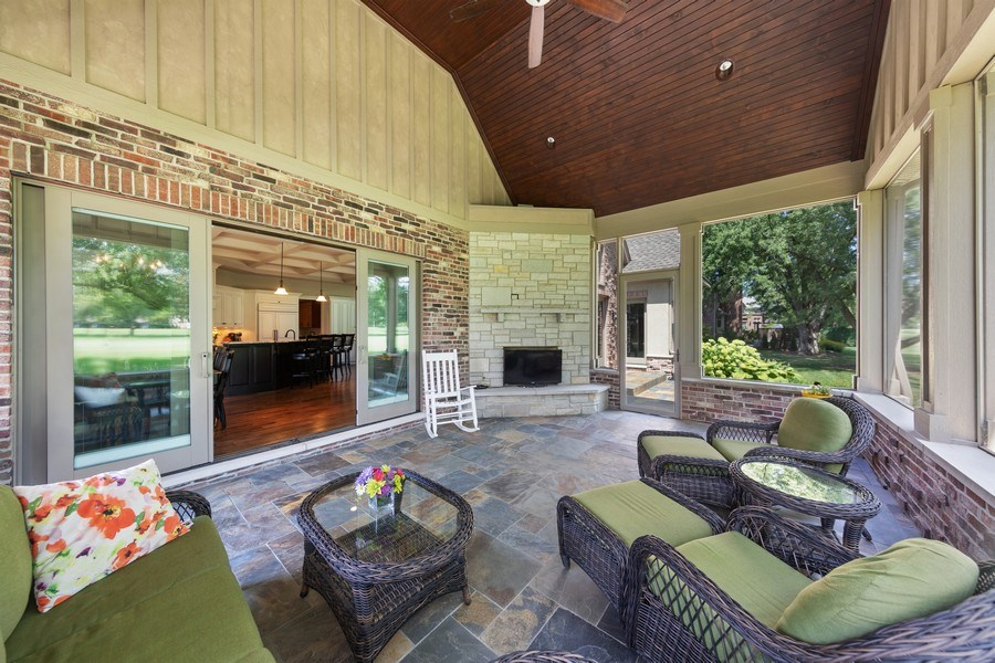 Real Estate Photography - 1108 Heatherton Dr, Naperville, IL, 60563 - This may be the best spot in the home-the porch!