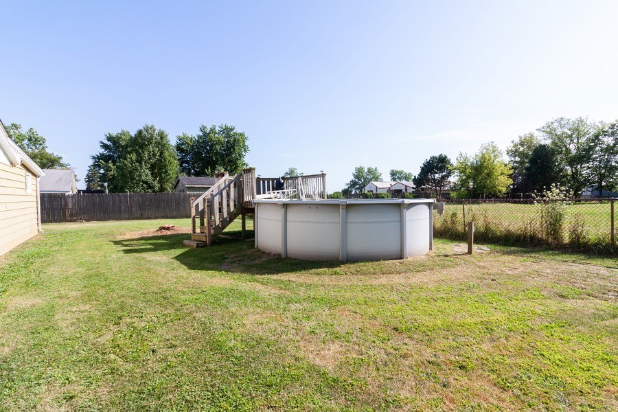 Real Estate Photography - 25443 West Route 30 Hwy, Plainfield, IL, 60585 - Back Yard
