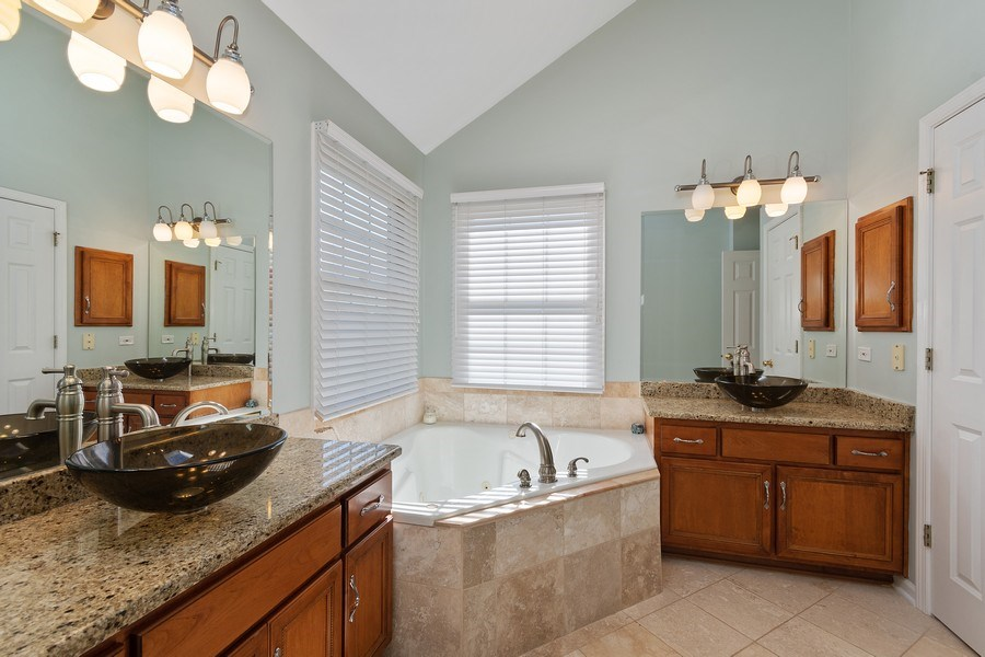 Real Estate Photography - 1229 Wind Energy Pass, Batavia, IL, 60510 - Master Bathroom
