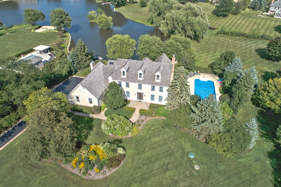 Real Estate Photography - 20831 North Wildrose Dr, Deer Park, IL, 60010 - Aerial View