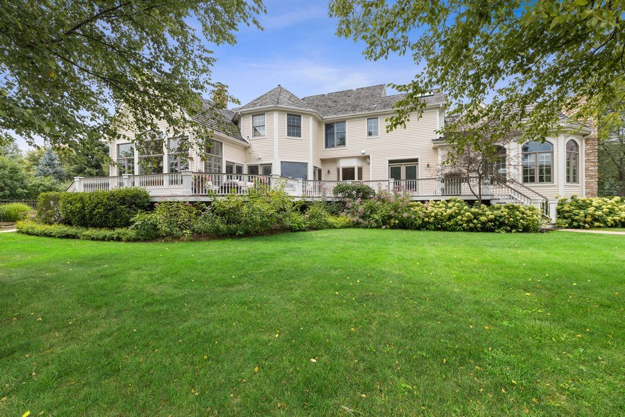 Real Estate Photography - 20831 North Wildrose Dr, Deer Park, IL, 60010 - Rear View