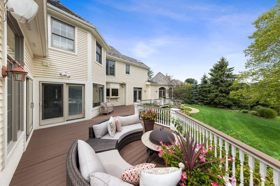 Real Estate Photography - 20831 North Wildrose Dr, Deer Park, IL, 60010 - Deck