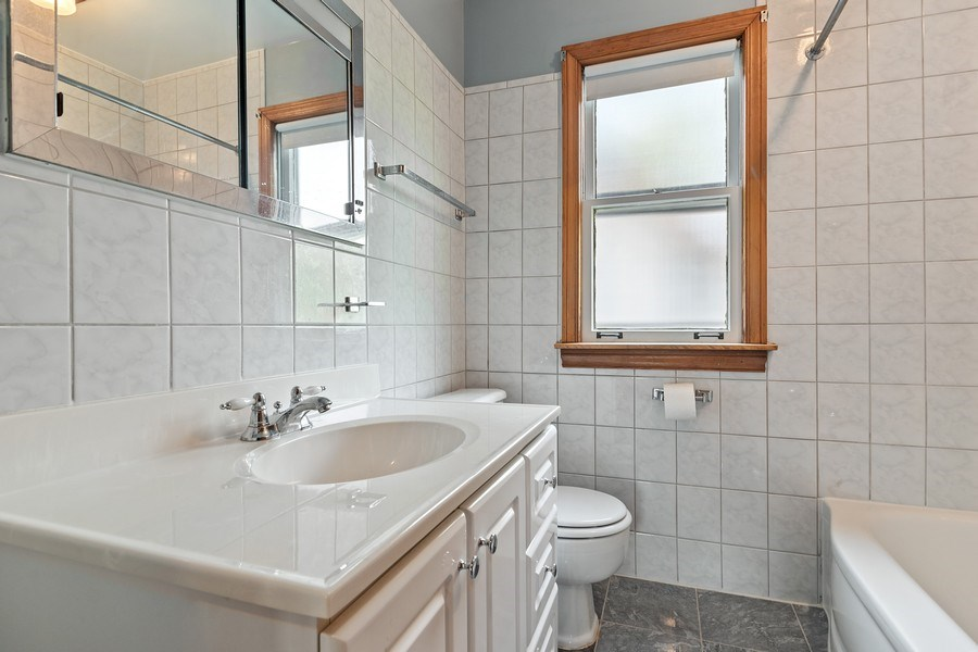 Real Estate Photography - 3049 North Oak Park Ave, Chicago, IL, 60634 - 2nd Bathroom